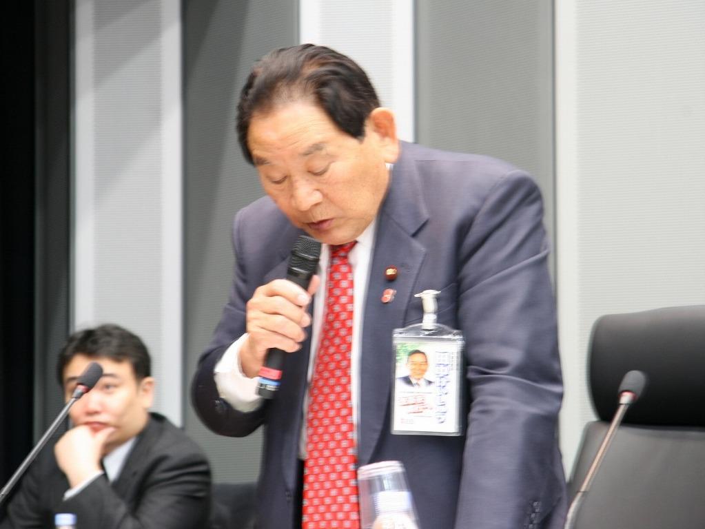 Mr. Keishu Tanaka (Member of House of Representatives, The Democratic Party of Japan)