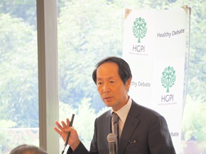 """[Event Report] The 39th Special Breakfast Meeting """"The Medical Care Provision System and Regional Healthcare,"""" Dr. Ryozo Nagai (September 22, 2017)"""