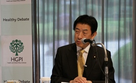 """[Event Report] The 31st Special Breakfast Meeting """"Health Care Reform and Japan Vision: Health Care 2035″ (Mr. Yasuhisa Shiozaki, Minister of Health, Labour and Welfare)"""