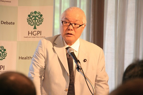 """[Event Report] The 33rd Special Breakfast Meeting """"Can we maintain a universal public insurance system? ―The future of health care reform―"""" (Mr. Keizo Takemi, Sep 23, 2016)"""