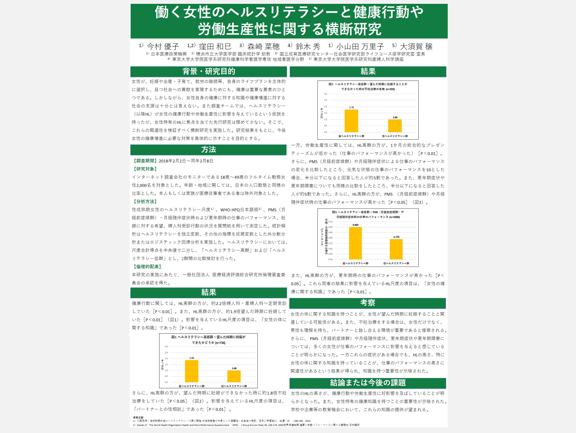 [Presentation] Japanese Midwives Association's 74th conference (May 26, 2018, Kanazawa city, Ishikawa prefecture)
