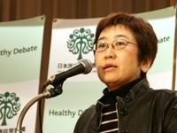 望月 友美子 氏(国立がんセンターたばこ政策研究プロジェクトリーダー)