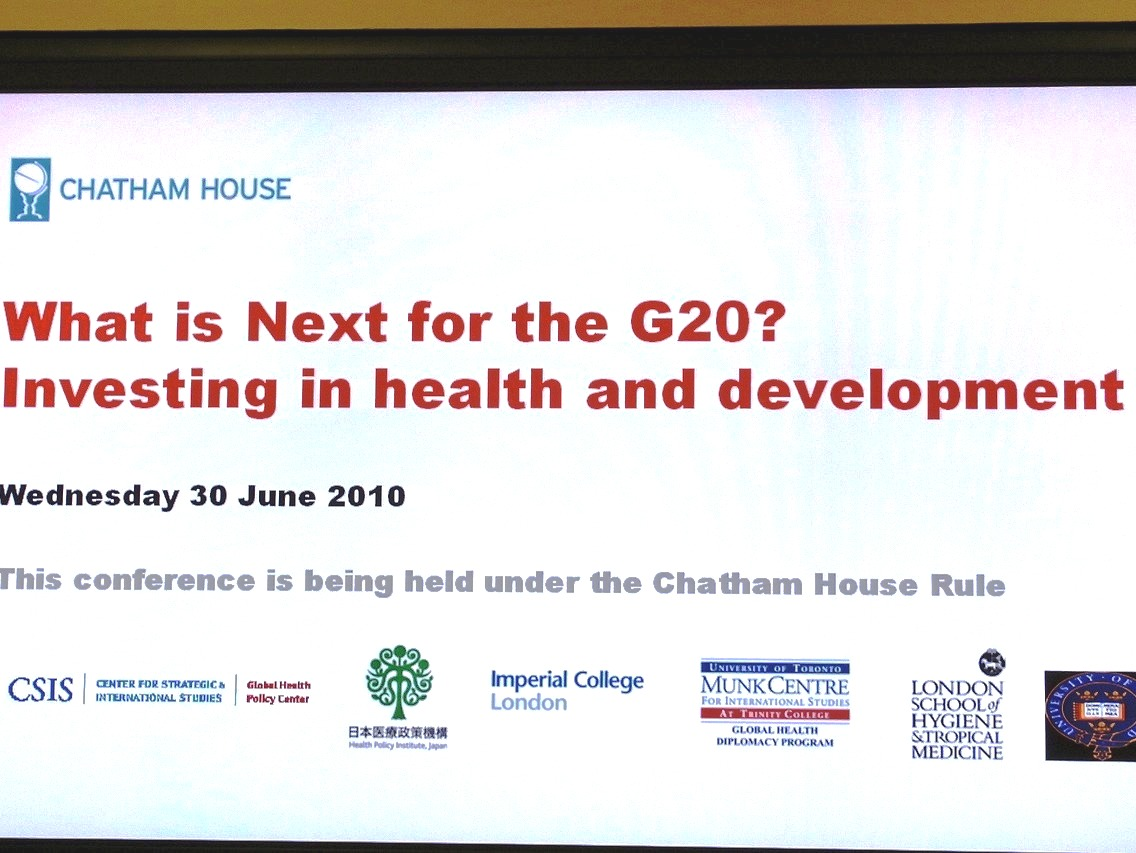 「What is Next for the G20? Investing in health and development」開催報告