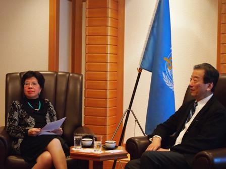 マーガレット・チャン世界保健機関事務局長との面談