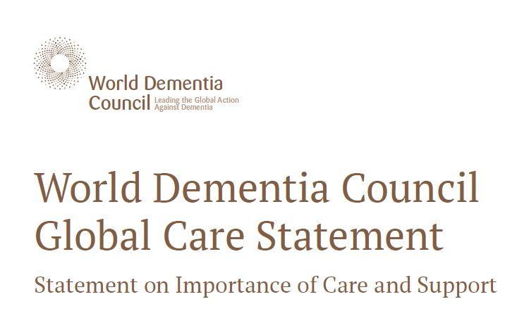 【発表報告】世界認知症審議会(WDC: World Dementia Council)より発表の、認知症のケアとサポートの重要性に関する声明「Global Care Statement」の日本語訳を作成しました(2017年7月20日)