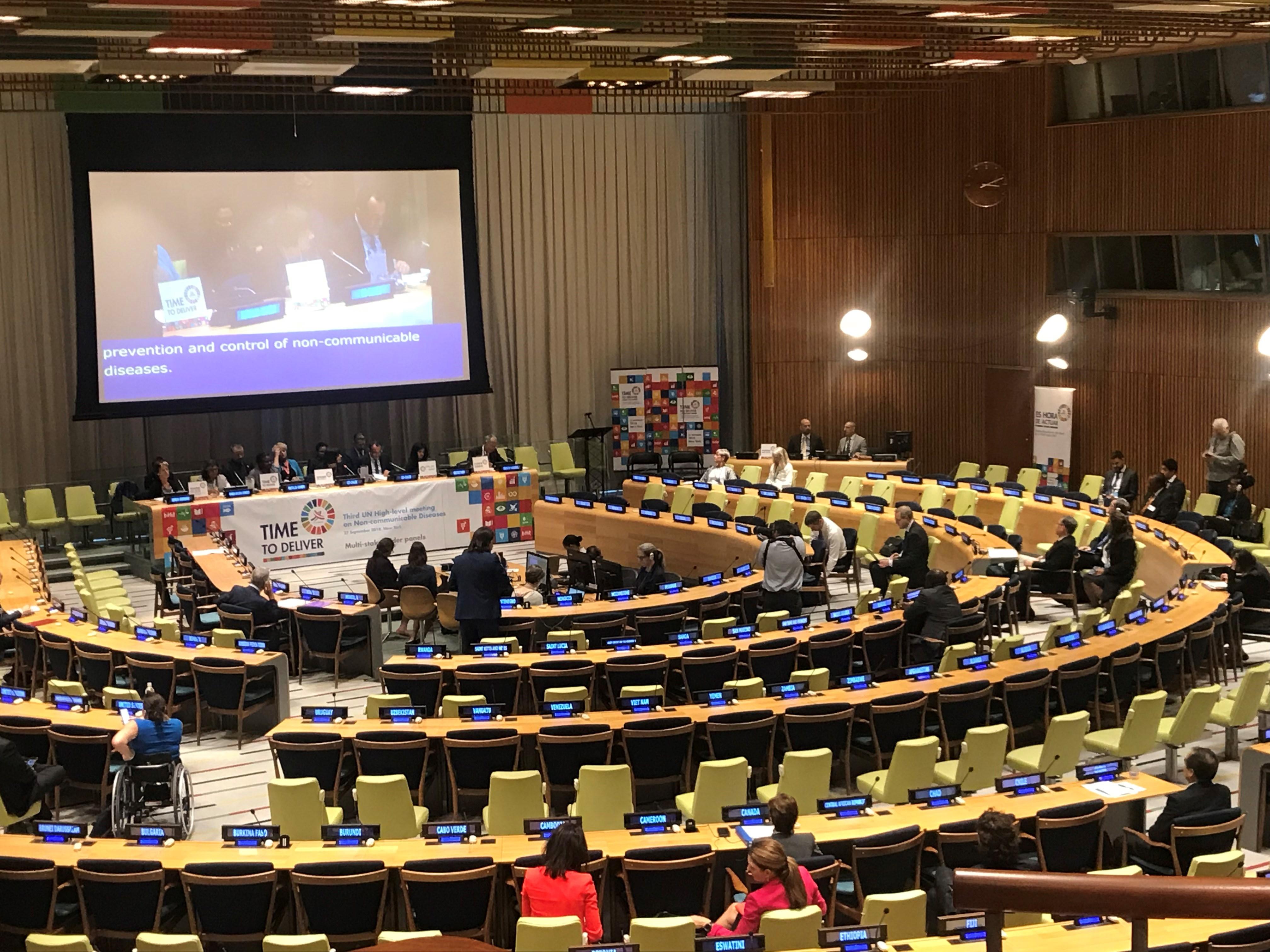 非感染性疾患(NCDs)における第3回国連ハイレベル会合にて政治宣言が採択される
